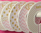 Custom Baby Closet Dividers Clothes Organizers Soft Light Pink and Gold with Dots Chevrons CD001 Baby Girl Shower Gift Nursery Decor