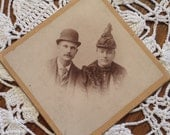 Vintage Photograph Two Men 3 X 3 inches