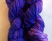 SALE  violet on Bulky SW Merino