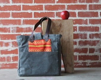 Waxed Canvas Tote Grey