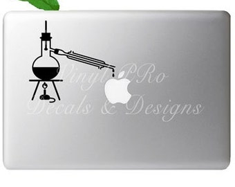 Distillation Science Chemistry Lab Experiment Research Biotech Solution Solvent Decal for Apple Macbook