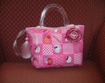 Pink Hello Kitty Baby Care Bag or Tween Handbag