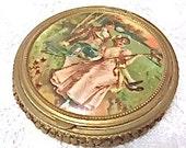 Sale: 1910  Antique Victorian Makeup Compact