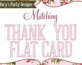 Made-to-Match Printable Thank You Flat Card • Add-on to your Invitation Order