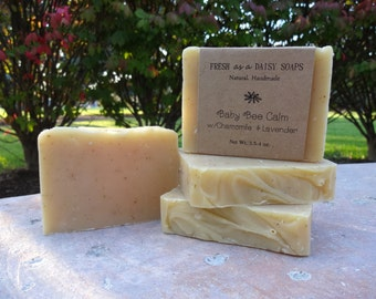 Baby Bee Calm, 100% Natural Handmade Soap, with Beeswax, Chamomile & Lavender
