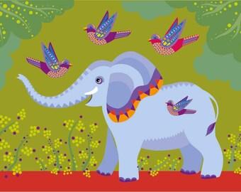 Children's print - Elephant