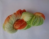 Hand Dyed Yarn, California Poppies Revisited - SW Merino/Nylon Fingering Wt.