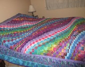 Bargello queen/king quilt