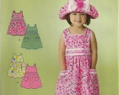 Simplicity Sewing Pattern 2987 - Toddler's Dress and Hat (0.5-4)