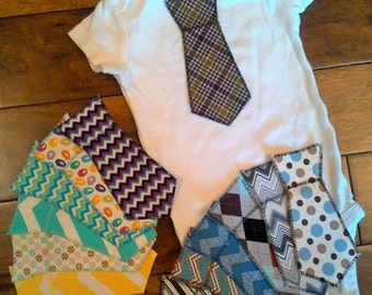 Spring Time/Easter Iron On Ties for Baby Boy Onesies