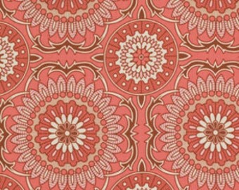Joel Dewberry Fabric - 1 Fat Quarter Bungalow -  Doily in Coral / Free Spirit Fabric