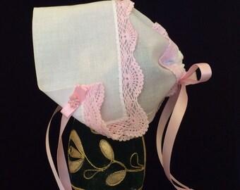 Hanky Bonnet, Magic Hanky Bonnet, an heirloom for Baby Girl.