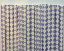 25 Lavender Diamond Checkered Paper Straws- Sofia the First Straw- Birthday Decorations, Cake Pops- Baby, Bridal Shower, Wedding Decor