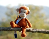 crochet monkey stuffed amigurumi jungel animal best frend for children gift for little kids