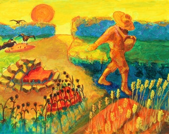 The Sower Parable giclee canvas print Bertram Poole
