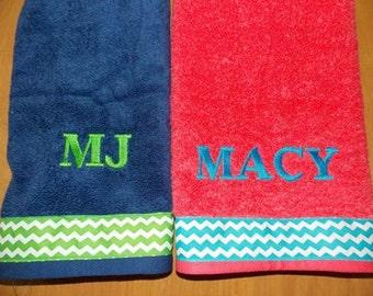 chevron personalisierte handtuch sets chevron geburtstag chevron dekor personalisierte badezimmereinrichtung wohnheim dekor - Fantastisch Badezimmereinrichtung
