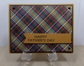 Plaid Father's Day Card in Black