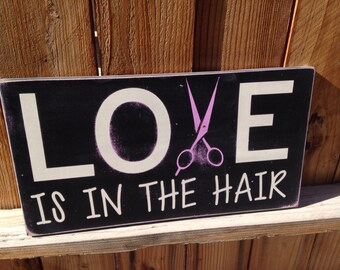 12x18 Love is in the Hair