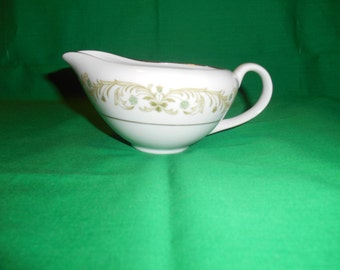 One (1), Porcelain, 8 oz Creamer, from Royal Wentworth, in the Ferndale 6527 Pattern.