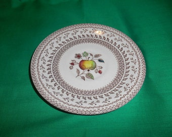 One (1), Tea Cup Saucer, from Johnson Bros., in the Fruit Sampler (older) Pattern