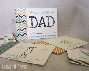 Father's Day 'All About Dad' Book - Gift - Printable About Dad Book  - Fathers Day Gift for Dad Daddy - Instant Download - Unique