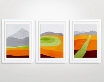 Mid Century Modern Posters, Abstract Landscape, Minimalist Posters, Large Wall Art