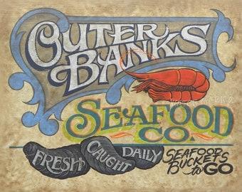 Outer Banks Seafood Co.  Print