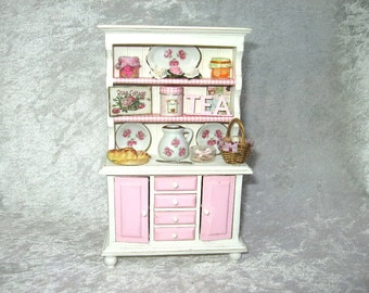 Cupboard style shabby/victorian for kitchen,furniture kitchen miniature,handmade miniature,buffet furniture-Dollhouses Miniature scale 1:12
