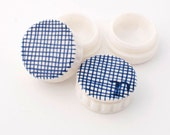 Delft blue porcelain contact lens case - contact holder