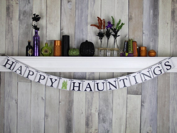 Halloween Decoration - Halloween Party - Halloween Prop - Happy Hauntings