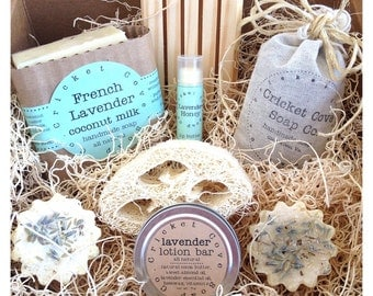 Lavender Lover's SOAP GIFT SET - Mothers Day Gift - Lavender Lovers Handmade Soap Box Set - Soap Gift Basket - Lavender - gift - soap