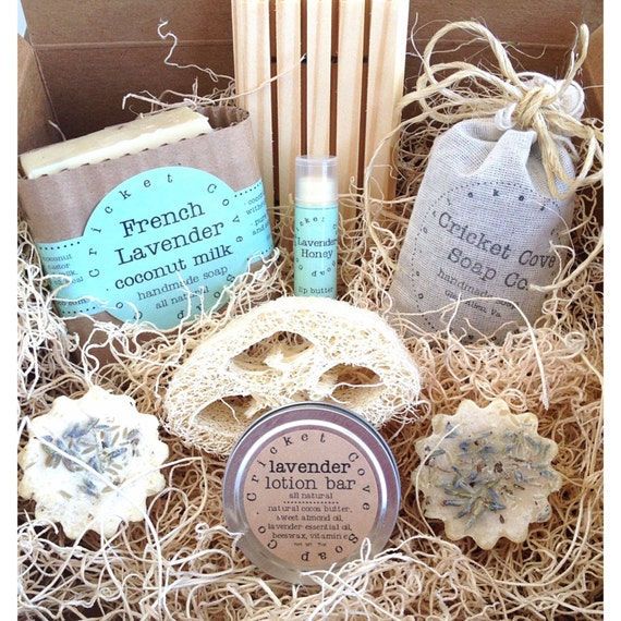Lavender Lover's SOAP GIFT SET - Gift Set for Her - Lavender Lovers Handmade Soap Box Set - Soap Gift Basket - homemade soap gift - soap