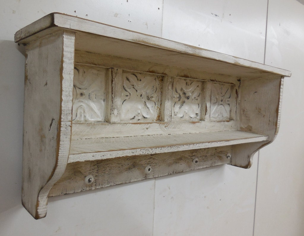 Primitive wall shelf rustic wall shelf with shaker pegs zoom amipublicfo Image collections