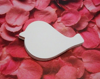 50 White Birds,Punch,Die Cuts,Scrapbook,Embellishments,Card Making,Wishing Tree Tags