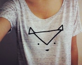 Geometric Fox Animal Blouse