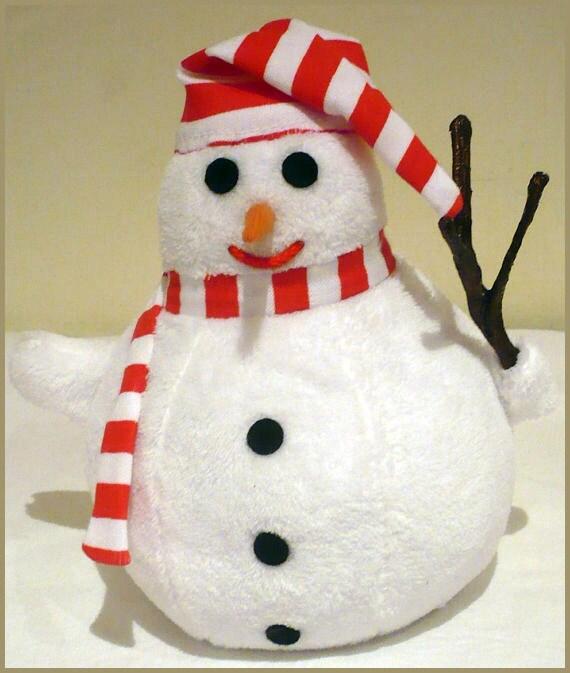 Bill, the snowman - hand puppet