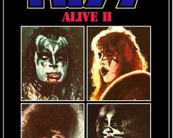 KISS ALIVE II Promo Stand-Up Display # 2 - Gift Idea Kiss Band Kiss Collectibles Kiss Memorabilia Kiss Army Posters kiss76