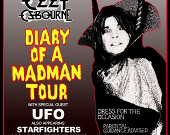 "Ozzy Osbourne - Randy Rhoads ""Diary Of A Madman Era"" Reproduction Concert Stand-Up Display - Collectibles Collection Collector Gift Idea"
