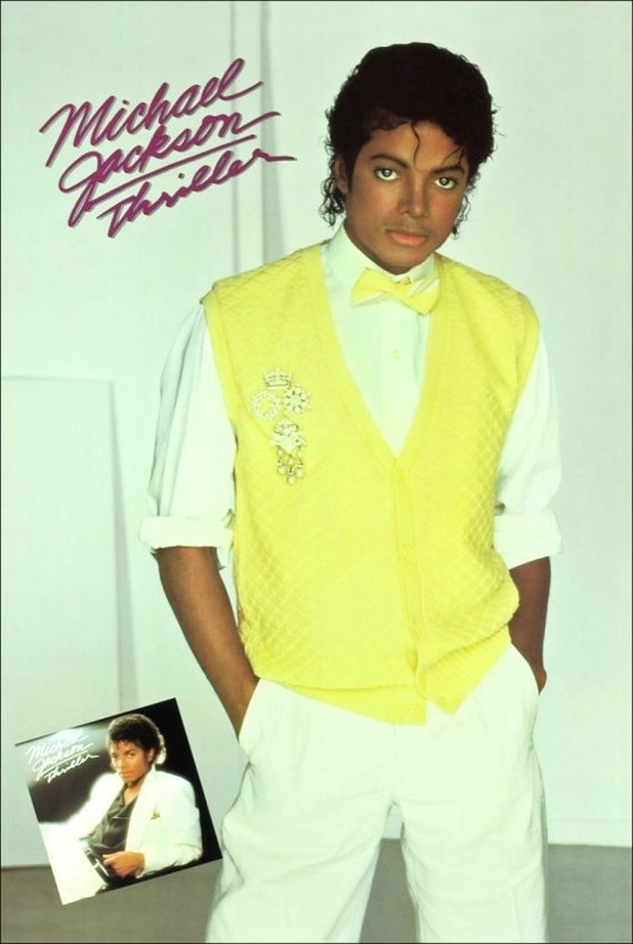 MICHAEL JACKSON Yellow Sweater 1983 Original Poster #4