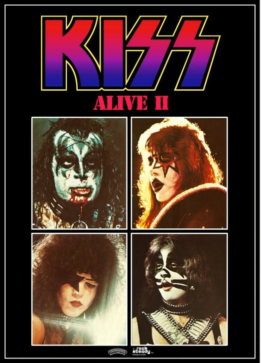 kiss alive ii promo stand up display 2 gift idea kiss band. Black Bedroom Furniture Sets. Home Design Ideas