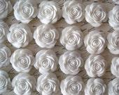 Resin Cabochons  Resin White Rose  Resin Flower  Resin Cabochon Flat Back Resins 22mm 6 pcs