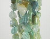 Seafoam Green Aquamarine High Grade Natural Tumbled Raw Large Nugget Beads 5mm - 16mm