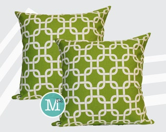 Chartreuse Green Gotcha Pillow Covers - 20 x 20 and More Sizes - Zipper Closure