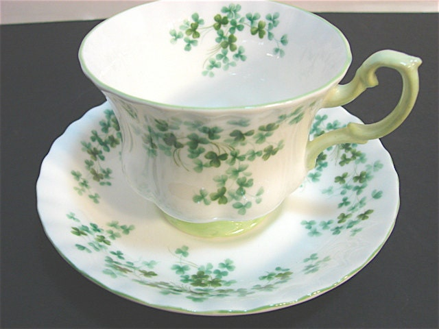 Vintage Royal Albert Bone China Shamrock Tea Cup And Saucer