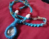 Turquoise Hemp Grateful Dead Necklace