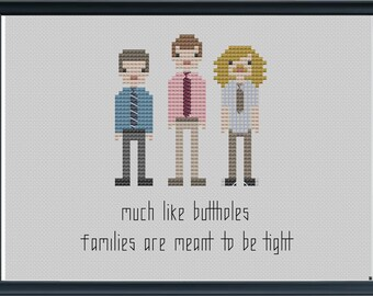 INSTANT DOWNLOAD Workaholics Tight Butthole Cross Stitch Sampler Pattern PDF