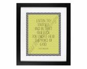 "Maya Angelou - ""The Voice of God"" | Decor Digital Printable: CUSTOM COLOR AVAILABLE"