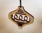 Fa la la loops ~ laser-cut wooden ornaments