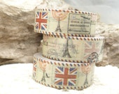 Retro Airmail Paris Great Britain Flag Travel Washi Tape - D855
