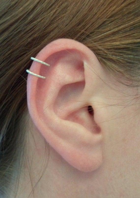 ear cuff bague d 39 oreille double anneau cartilage 18 ga par alufolie. Black Bedroom Furniture Sets. Home Design Ideas
